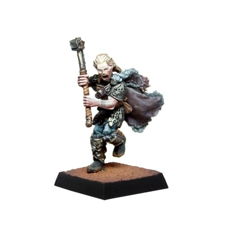Warrior with hammer - PAINTED