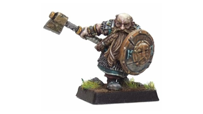 Warrior with shield - Dwarfs