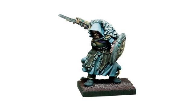 Monk with shield - PAINTED